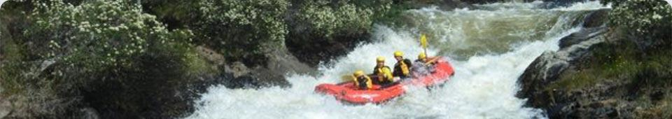 rafting at some place